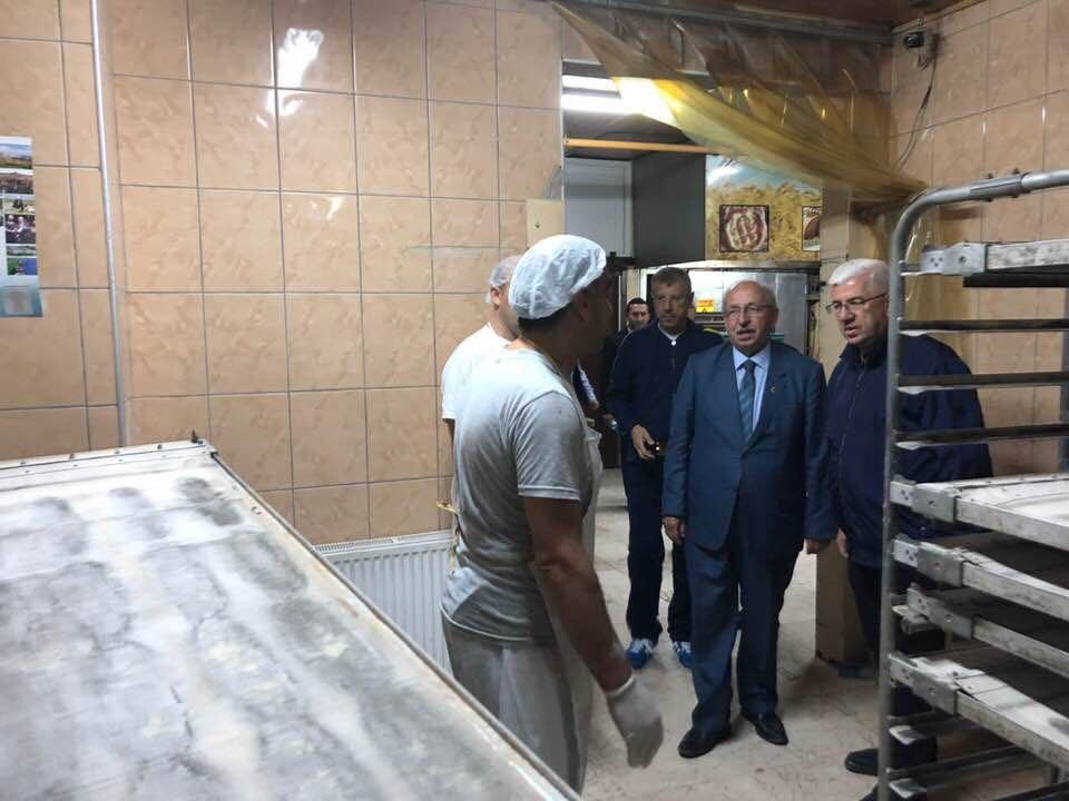 Tekirdağ Büyükşehir Belediye başkanımız sayın Kadir Albayrak Velimeşe´de katıldığı sahur programından sonra Halk Ekmek Fırınımızı ziyaret etti.